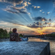 Enjoying a Parisian Sunset photo par ShutterRunner