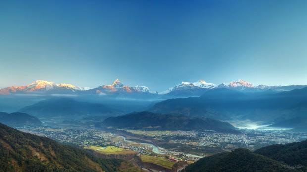 Sarangkot Sunrise, Pokhara, Nepal photo par dhilung
